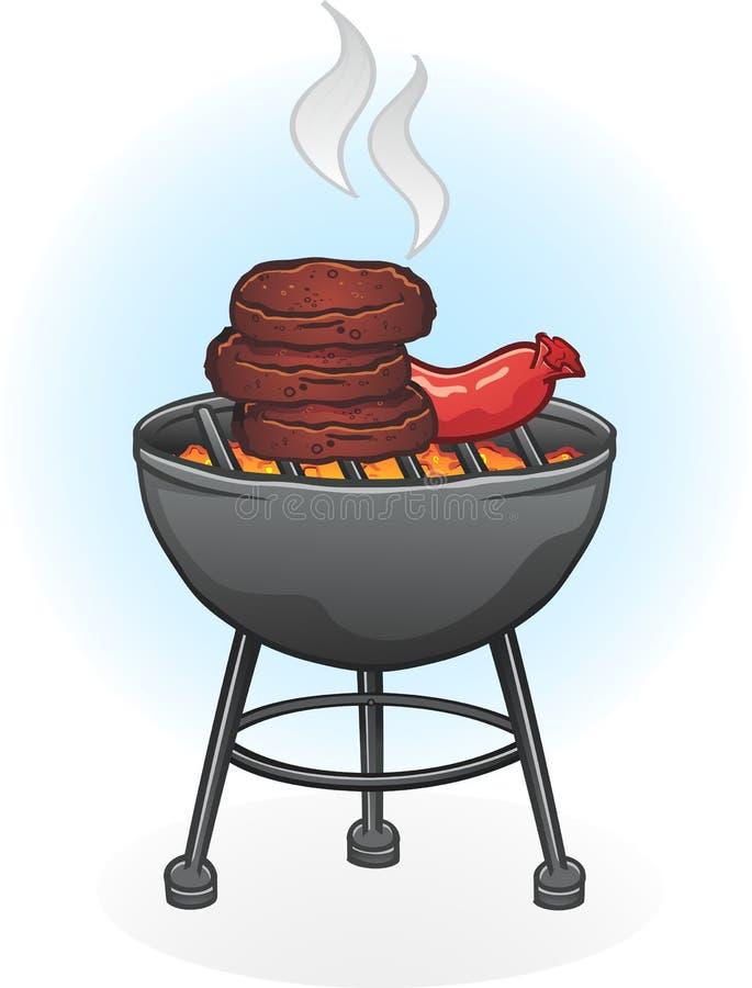 węgiel drzewny grill ilustracja wektor