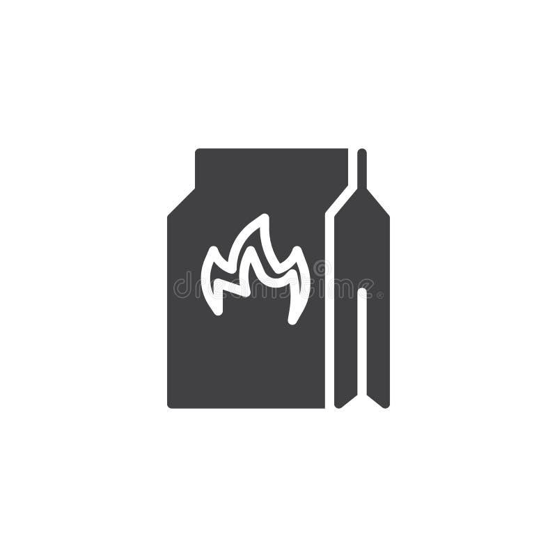 W?giel drzewny torby wektoru ikona ilustracji