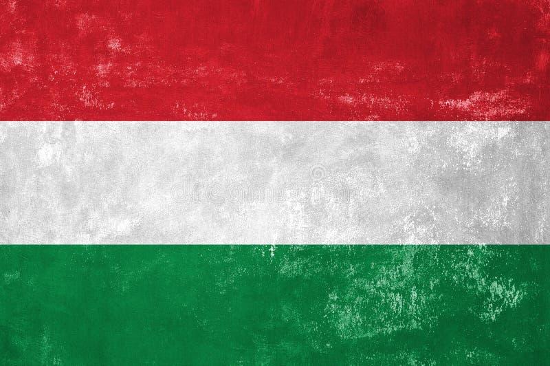 Węgier flaga fotografia royalty free