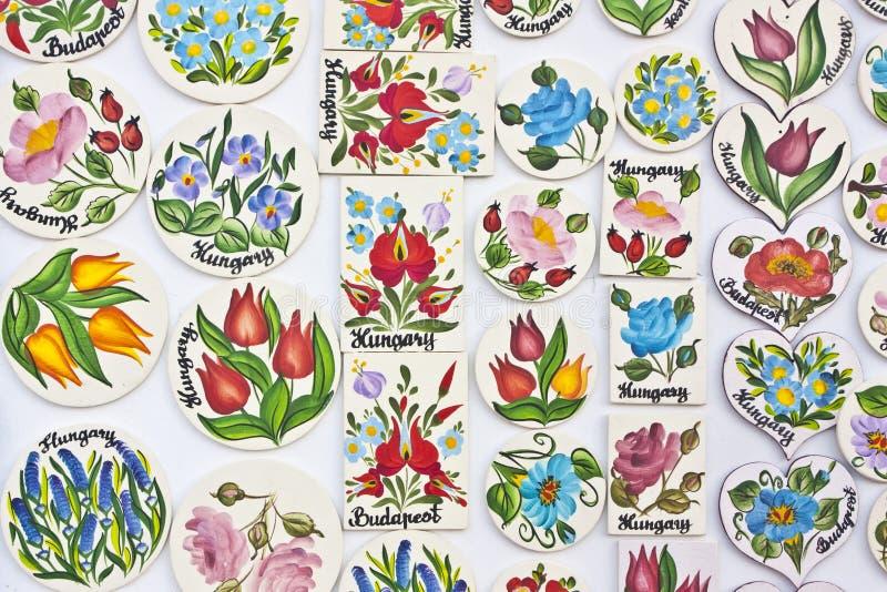 Węgierscy kwiatów motywy ilustracji