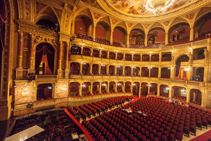 Węgierska stan opera Budapest zdjęcia royalty free