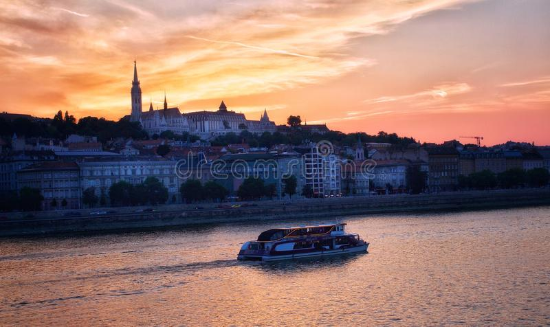 Węgierska zmierzch ekspektatywa obrazy royalty free