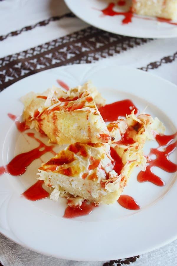 Węgierski cheesecake obraz royalty free
