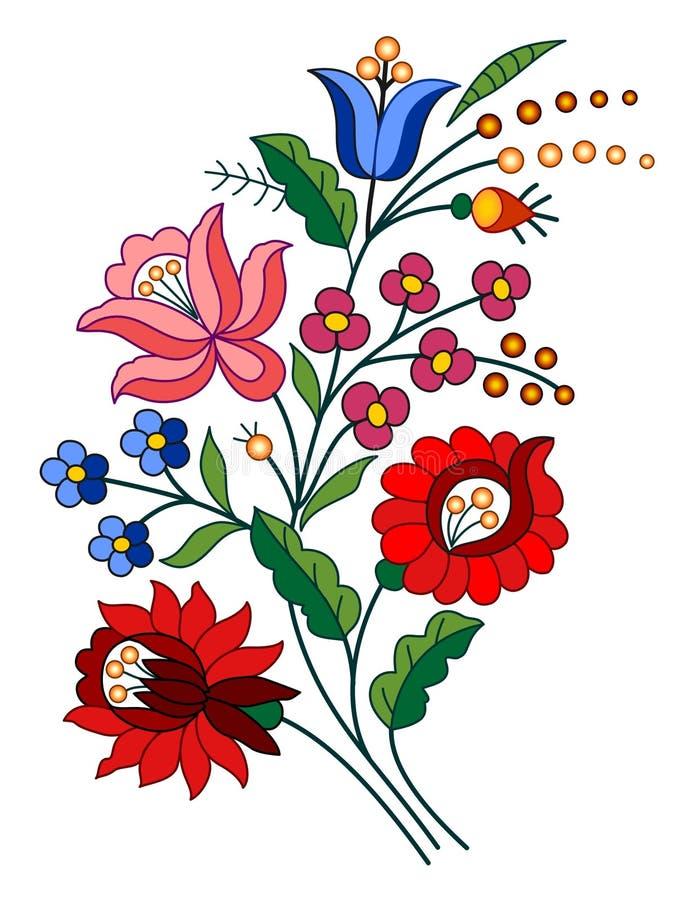 Węgierski ludowy motyw royalty ilustracja