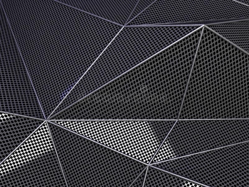 Węgla abstrakta tła kropkowany ciemny pojęcie 3d ilustracja wektor