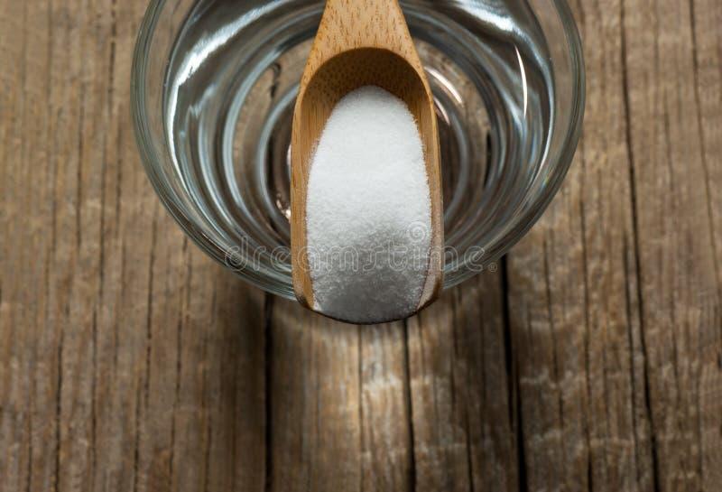 Węglan prochowa, wypiekowa soda lub, alternatywna medycyna, organicznie czysty obraz royalty free