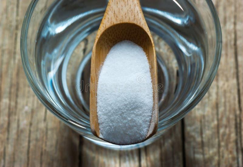 Węglan prochowa, wypiekowa soda lub, alternatywna medycyna, organicznie czysty obraz stock