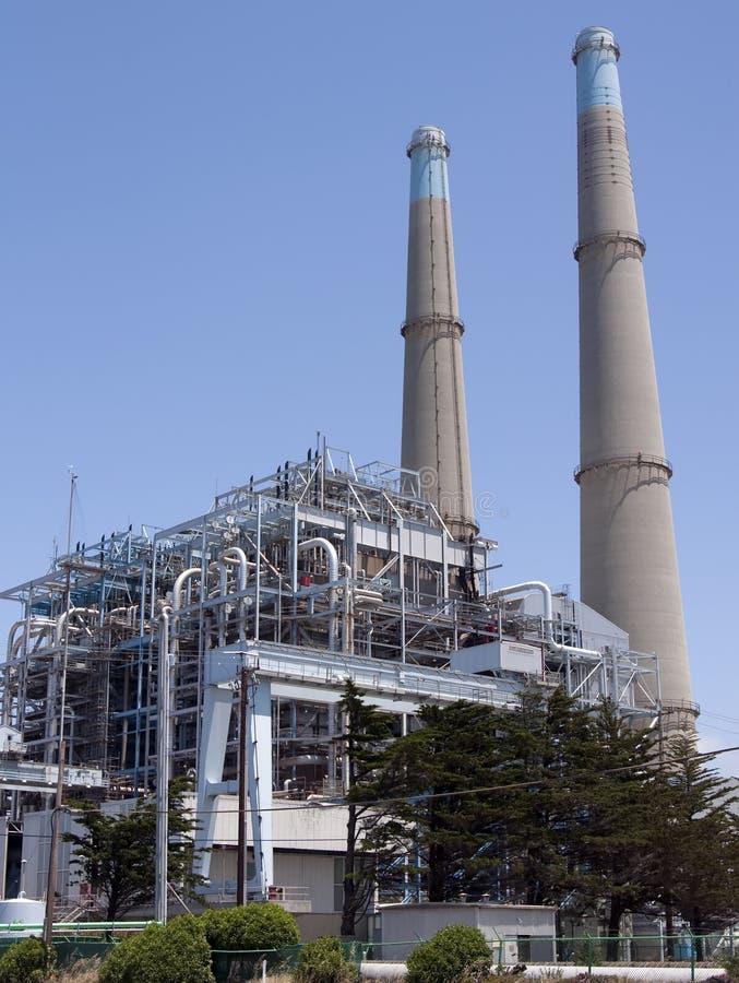 węglowa elektrycznej rośliny władza zasilał fotografia stock