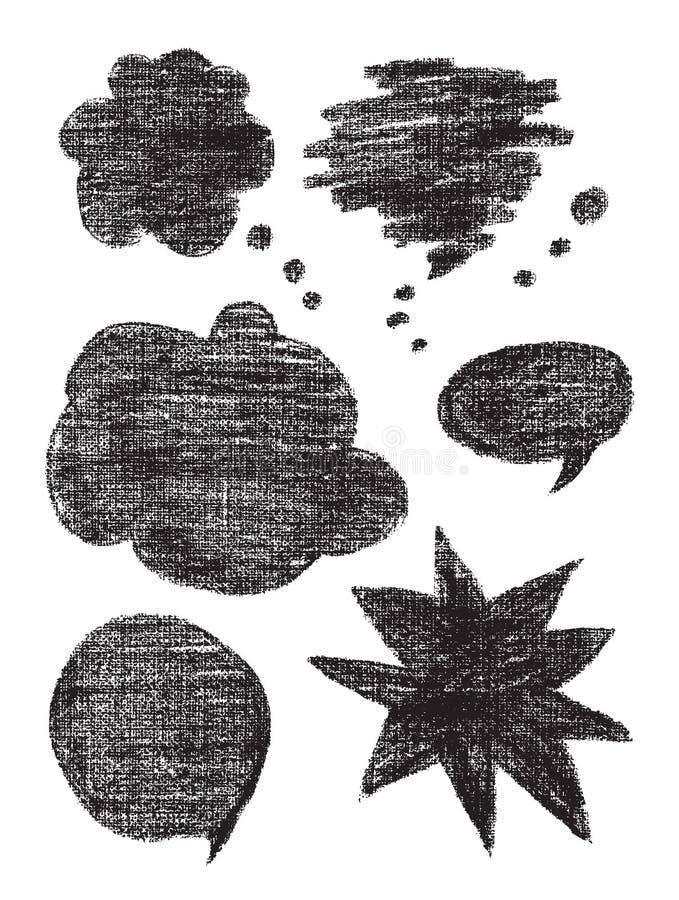 Węglowi wektorów bąble ilustracja wektor