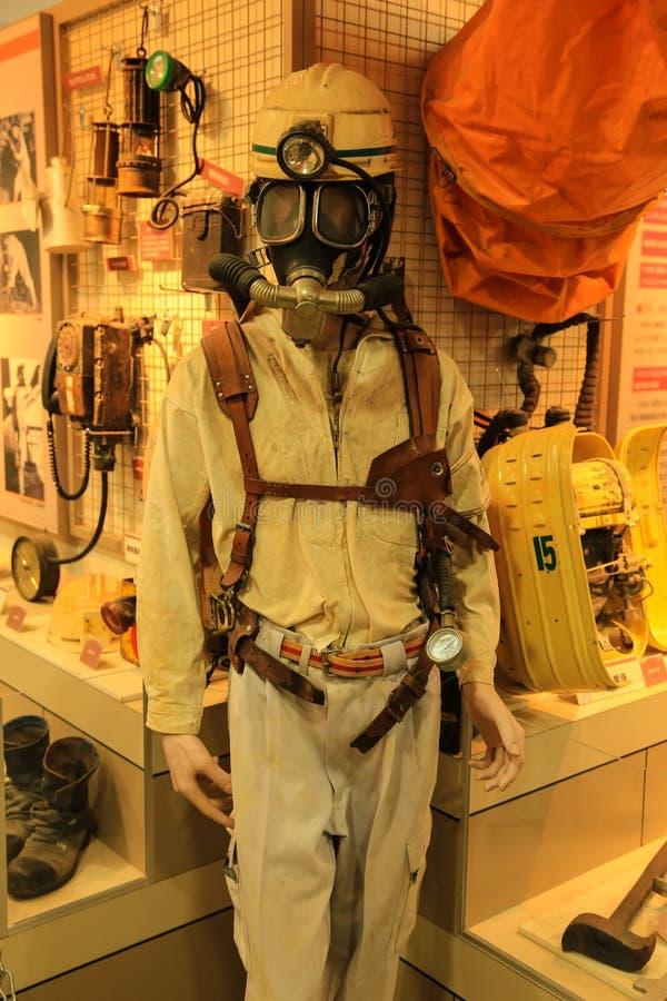 Węglowy górnika ` s osobisty ochronny wyposażenie na mannequin obrazy royalty free