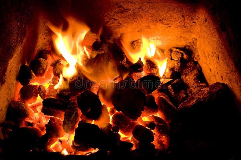 węglowy ogień obrazy royalty free