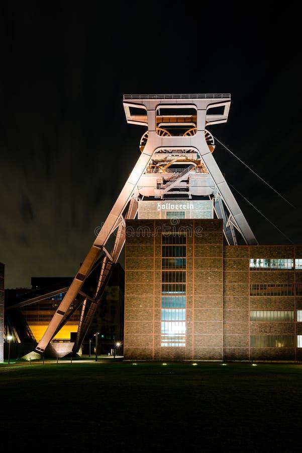 węglowy powikłany przemysłowy kopalniany zollverein obraz stock