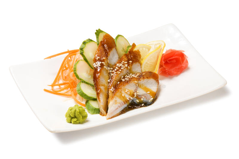 Węgorzowy sashimi zdjęcie stock