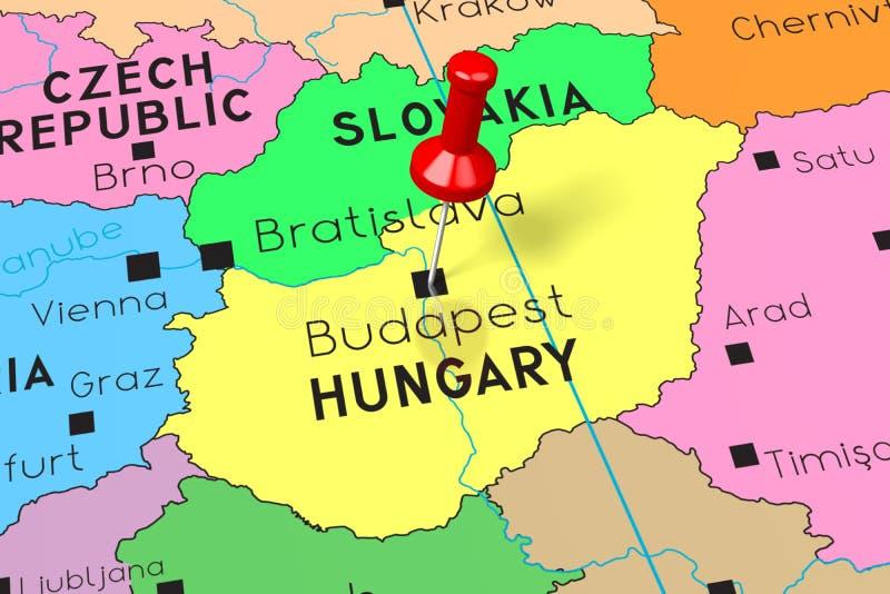 Wegry Polityczna Mapa Ilustracja Wektor Ilustracja Zlozonej Z