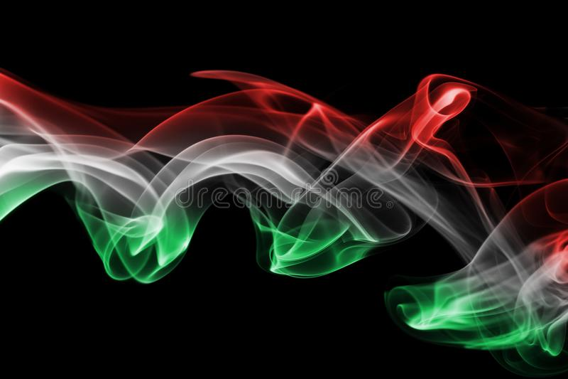 Węgry flaga dym zdjęcie stock