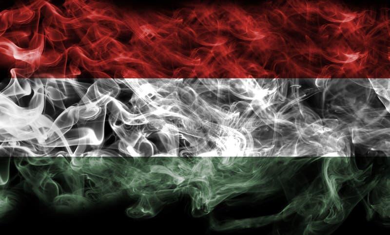 Węgry flaga dym fotografia royalty free