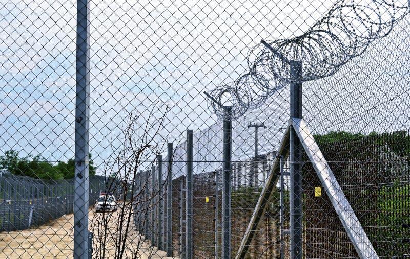 Węgry kontrola graniczna zdjęcie stock