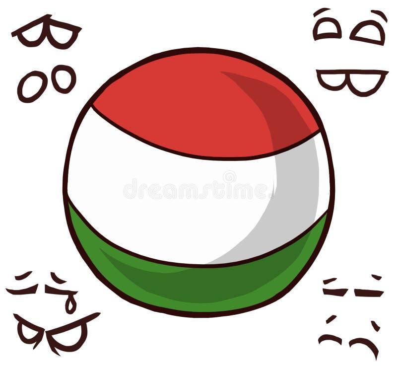 Węgry kraju piłka ilustracji