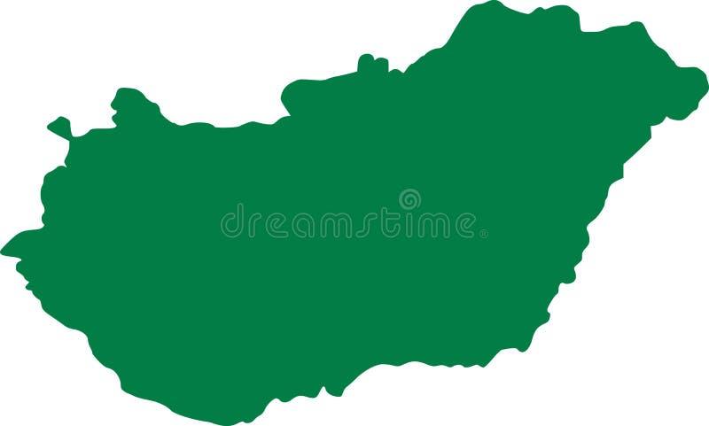 Węgry mapy kraj ilustracja wektor