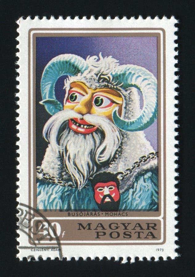 WĘGRY OKOŁO 1973: Poczta znaczek drukujący w Węgry, przedstawienia Bu zdjęcia royalty free