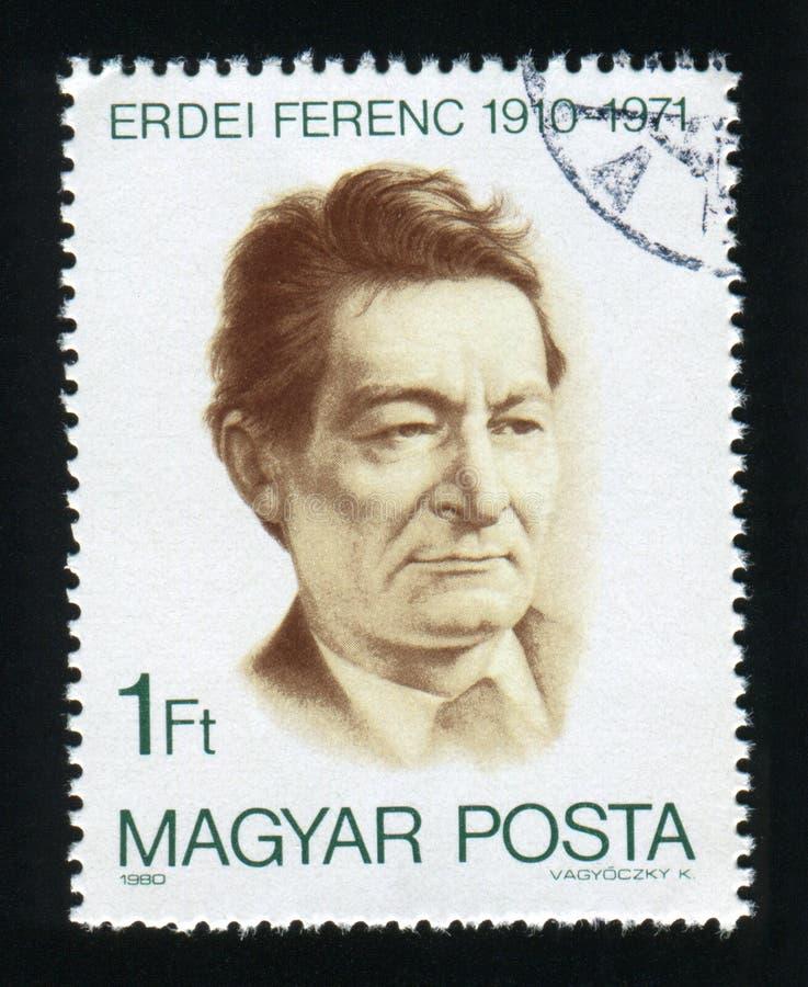 WĘGRY - OKOŁO 1980: Poczta znaczek drukujący w Węgry, przedstawienia Fer obraz stock