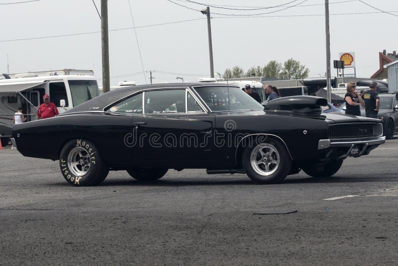 Włóczydło samochodu konkurent zdjęcia royalty free