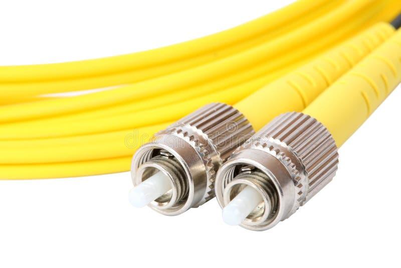 Włókno światłowodowe kabel zdjęcie royalty free