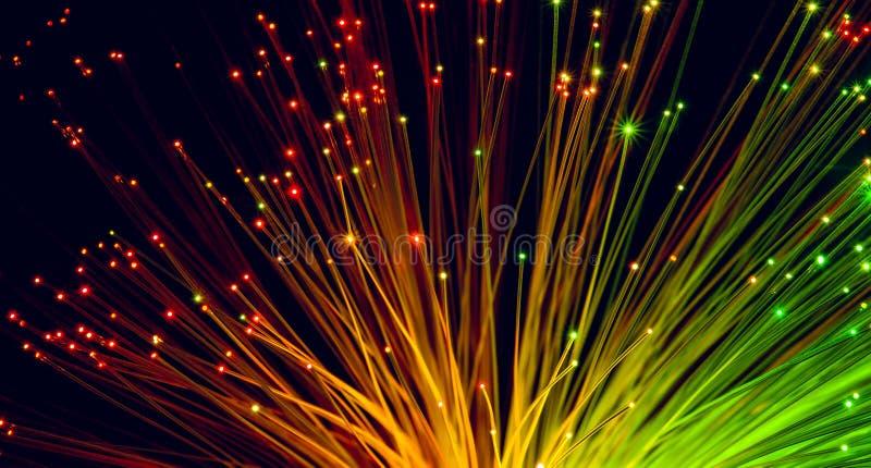 Włókno Światłowodowe kable ilustracja wektor