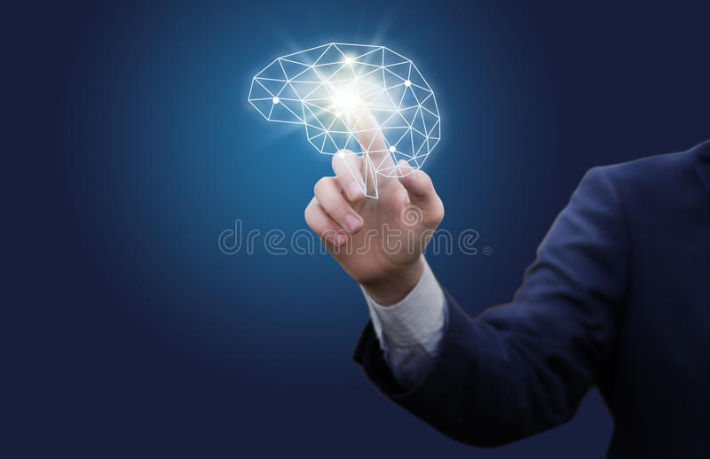 Włączenie wydajny biznesowy mindset obraz stock