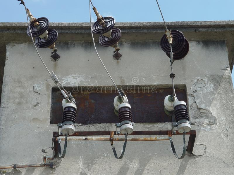 Właściciela drutu dostawa, elektryczny transformator obraz royalty free