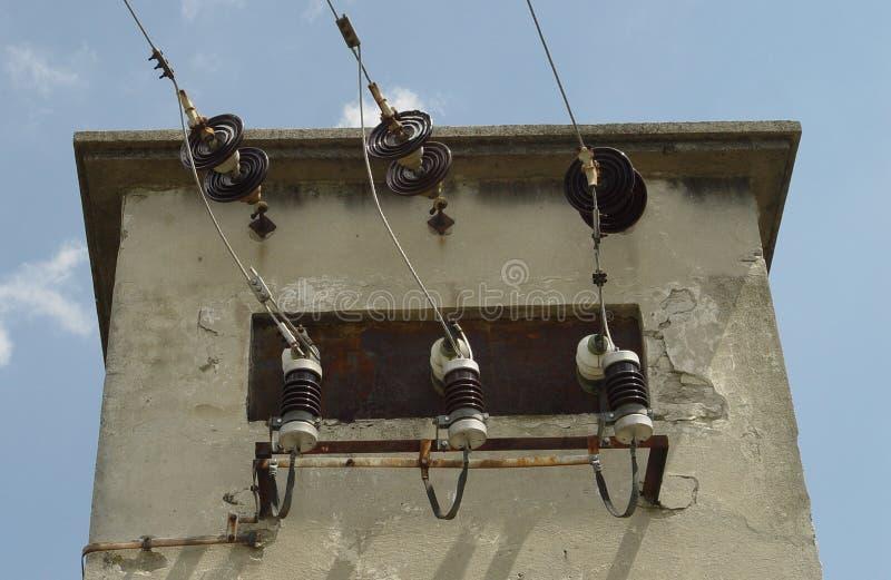 Właściciela drutu dostawa, elektryczny transformator obrazy stock