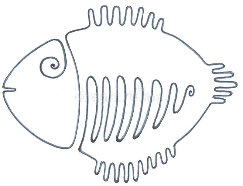 Właśnie czarna ryba ilustracji