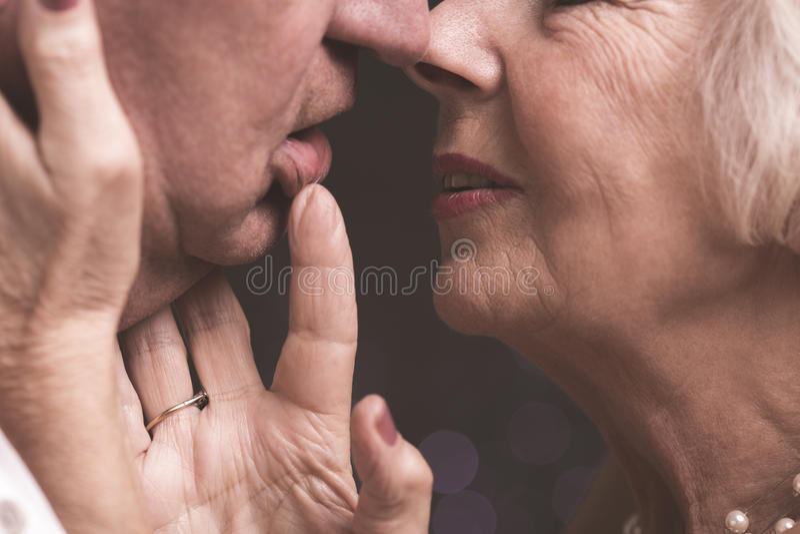 Właśnie jeden buziak bardziej obraz stock