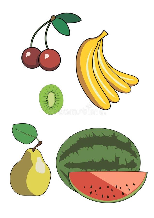 Właśnie proste wektorowe owoc zdjęcie stock
