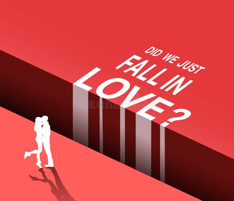 Właśnie spadamy w miłość wektorze ilustracja wektor
