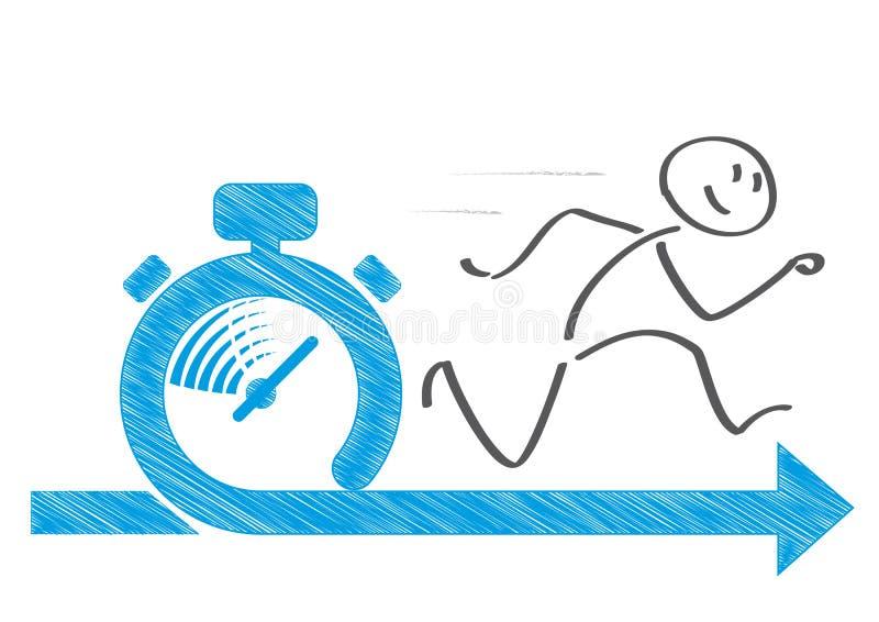 Właśnie w czasie - stopwatch royalty ilustracja