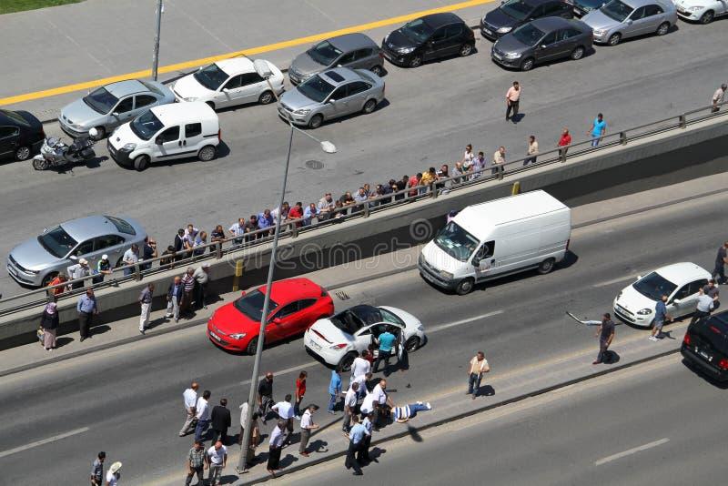 Właśnie zdarzał się wypadek ulicznego obrazy royalty free