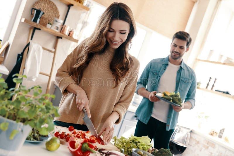 Właśnie zdrowy jedzenie fotografia stock