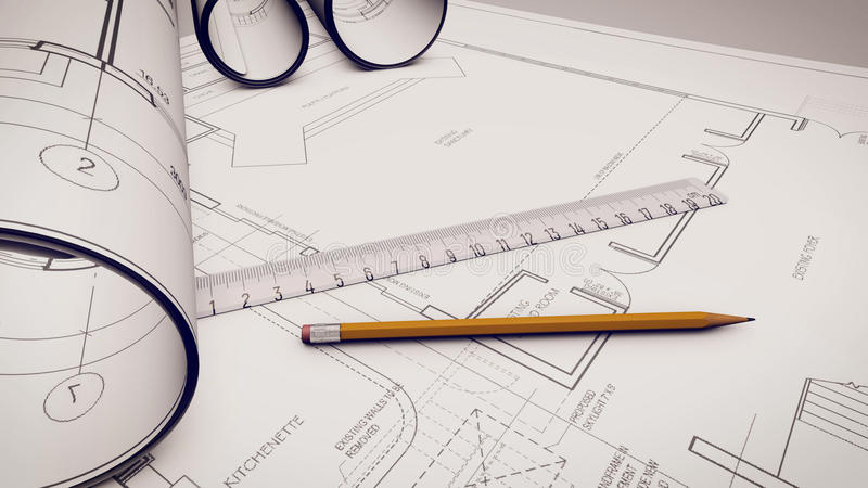 Władca i ołówki na projekty ilustracji