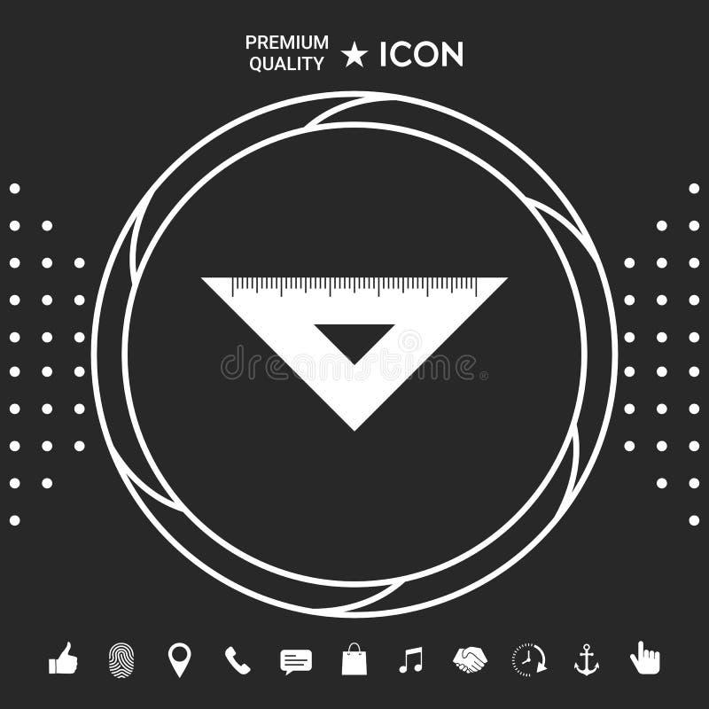Władca trójboka ikona Graficzni elementy dla twój designt ilustracji