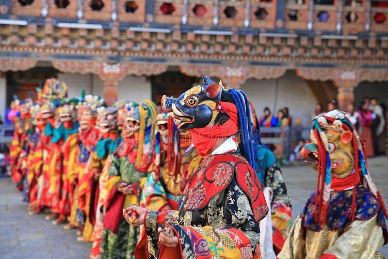 Władyka Śmiertelny festiwal VII, Bhutan fotografia stock