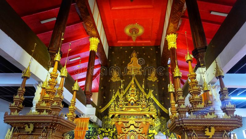 Władyka Buddha& x27; s cześć kościół obraz stock