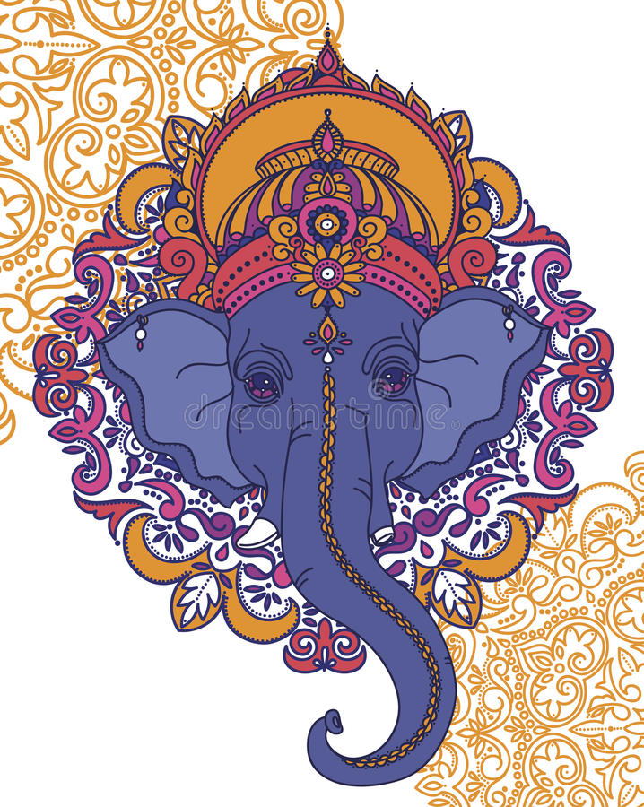 Władyka Ganesha, może używać jak karta dla świętowania Ganesh Chaturth ilustracji