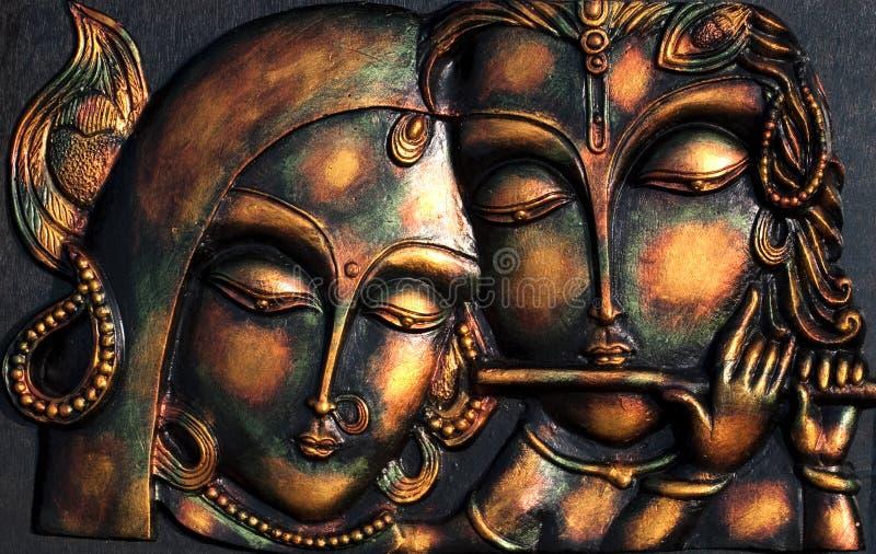 Władyka Krishna i Jego ladylove fotografia stock