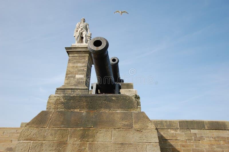 Władyki Collingwood statua Tynemouth fotografia royalty free