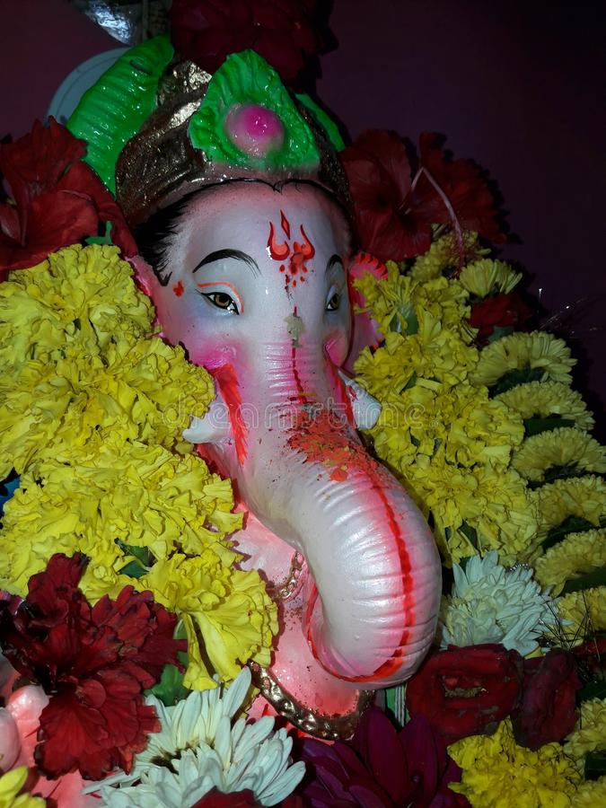 Władyki ganesh idol w goa zdjęcia stock