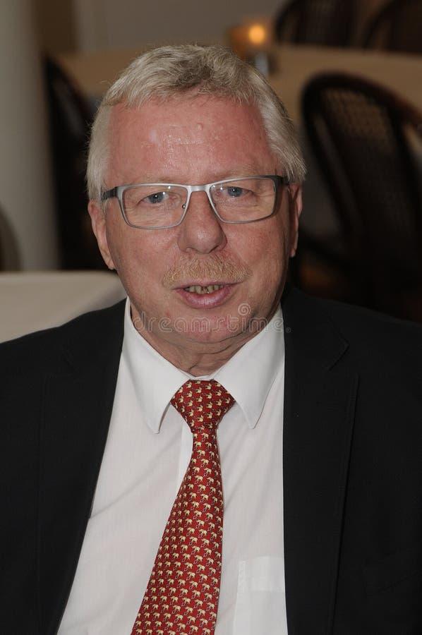 Władyki mayor Henrik Zimino mae anuancement on ot aport mayor poczta fotografia royalty free