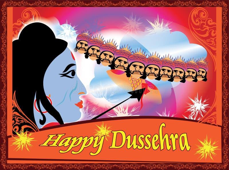 Władyki ramy killing ravana Szczęśliwy Dussehra ilustracji
