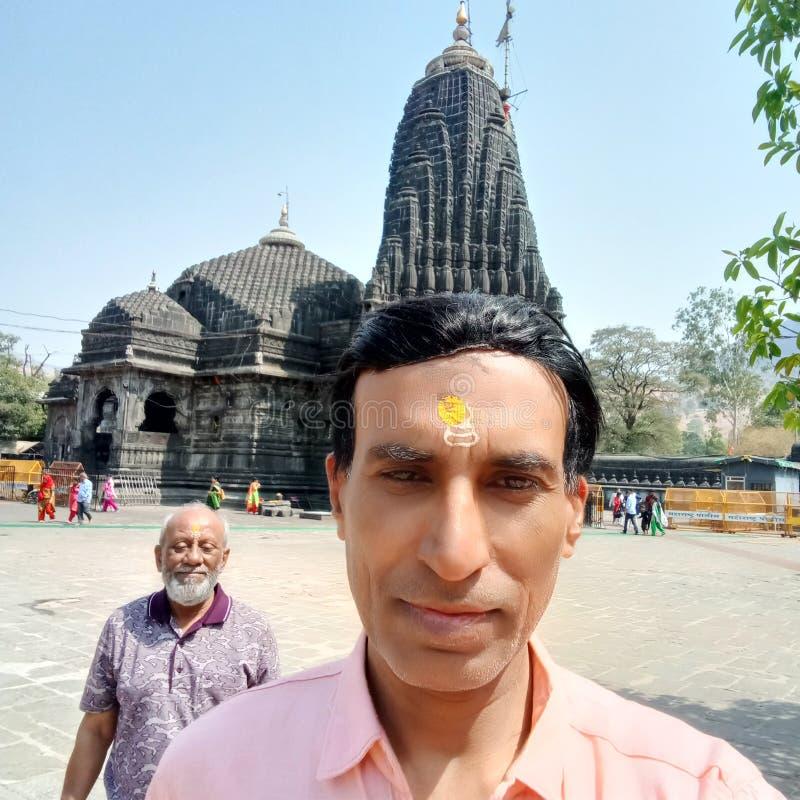 Władyki Shiva świątynia, Jyotirlinga Trimbakeshwar, maharashtra, India zdjęcie stock