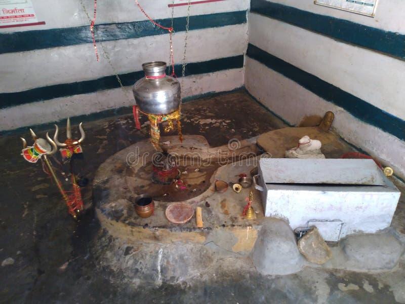 Władyki Shiva świątynia - Shivlinga obrazy royalty free